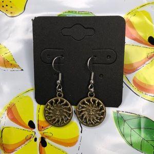 sun - face earrings